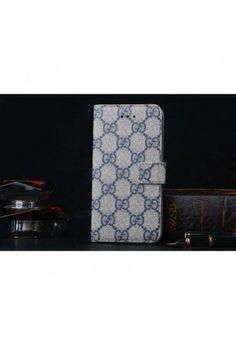 Coque Cuir iPhone 6 Gucci,étui luxe pour iPhone6 -bleu