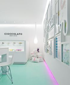 Beautiful Restaurant Interior Design: Cioccolato, a chocolate shop/bakery in Mexico City.