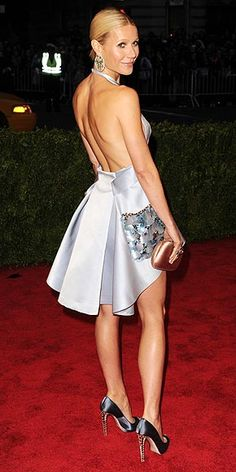Gwyneth Paltrow went for short and backless with this Prada number