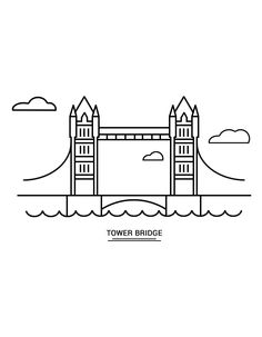 #kleurplaat #towerbridge #londen Tower Bridge, Kind, School, Schools