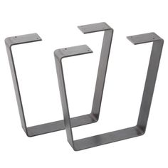 Flat bar metal table legs