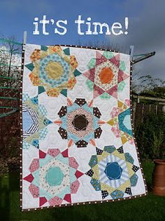 Rose Star Quilt  English Paper piecing QAL