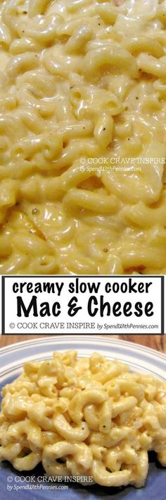 Ultra creamy Mac 'n Cheese. this is one of my favorite recipes of all time…. Ultra creamy Mac 'n Cheese. this is one of my favorite recipes of all time. I've made it so many times and everyone in my family raves about it! Crock Pot Food, Crockpot Dishes, Crock Pot Slow Cooker, Slow Cooker Recipes, Cooking Recipes, Easiest Crockpot Recipes, Easy Crockpot Mac And Cheese Recipe, Slow Cooker Pasta, Crockpot Meals