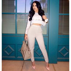 """""""Stand tall, stand proud.  #OOTD Top @missguided Pants @missguided Shoes @lolashoetiquedolls Bag @offceline #glamrezy"""" Photo taken by @amrezy on Instagram, pinned via the InstaPin iOS App! http://www.instapinapp.com (03/25/2015)"""