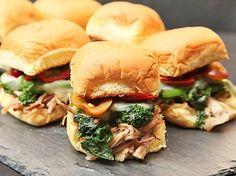 Roast Pork and Broccoli Rabe Sandwiches #recipe #superbowl