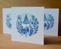 I've made a linocut relief print Christmas card for this year using a two colour traditional style. Printable Christmas Cards, Diy Christmas Cards, Christmas Scenes, Christmas Images, Christmas Card Designs, Xmas Cards, Holiday Cards, Scandi Christmas, Christmas Art
