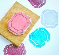 zakka life: DIY Gemstone Rubber Stamps