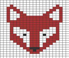Pixel Grid – Animals Fox – Gridlines – – knittingpattern – knitting pattern for babies - Knitting Charts Fair Isle Knitting Patterns, Fair Isle Pattern, Knitting Charts, Knitting Stitches, Free Knitting, Jersey Jacquard, Fair Isle Chart, Fox Pattern, Tapestry Crochet