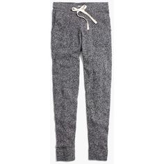 MADEWELL Sweater Pants (2.440 CZK) ❤ liked on Polyvore featuring pants, bottoms, sweatpants, trousers, marled pepper, madewell pants, merino wool pants, fitted pants and madewell