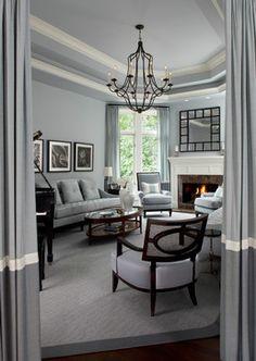 Smith - contemporary - living room - detroit - Jeffrey King Interiors