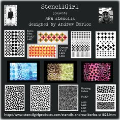 StencilGirl Talk: Floating Cubes, Retro Tiles, and Cross Patterned Stencils