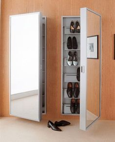 Modern Shoe Cabinet:                                                                                                                                                      More