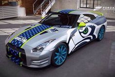 One of my fave cars and my fave team. Seahawks Nissan GT-R