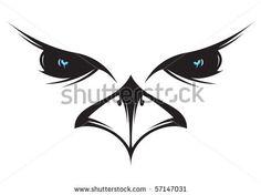 silouhette falcon tattoo