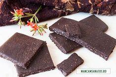 ciocolata pura, neagra, raw