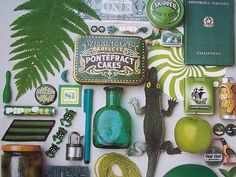 greens: pages from the very calendar that inspired me...very happily found on salbug00's flickr