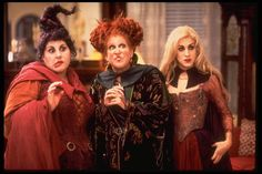 HOCUS POCUS - Freeform scares up some fun with its annual 13 NIGHTS OF HALLOWEEN celebration, featuring programming filled with thrills and chills as you countdown to Halloween. The popular programming event, now in its 18th year, kicks off on Wednesday, October 19 and concludes on Monday, October 31. (Buena Vista Pictures/Andrew Cooper) KATHY NAJIMY, BETTE MIDLER, SARAH JESSICA PARKER