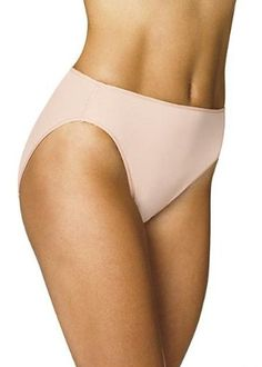 Hanes Women's Body Creations Microfiber Hi-Cut Panties 3 Pack Assorted 6