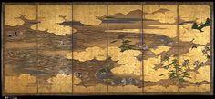"60. 新曲図屏風, ""Takebun,"" from the Musical Drama ""The New Piece"" (""Shinkyoku"") - Edo period (early 17th century)"