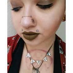 """478 Likes, 11 Comments - Ali X Pope (@piercingsbyali) on Instagram: """"Stole this pic from my bff Bridgett, who is rocking a super cute chain between her high nostril…"""""""