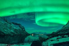 "MT Northern lights from Tromso, Norway - Anne Birgitte Fyhn"" Tromso, Aurora Borealis From Space, Terre Nature, Northen Lights, See The Northern Lights, Sky And Clouds, Background Pictures, Beautiful Sky, Naturally Beautiful"