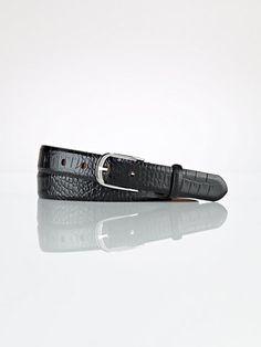 Crocodile End Bar Belt - Belts  Women - RalphLauren.com