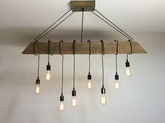 Reclaimed Barn Timber Beam Light Fixture Bar Restaurant Home 48 8 Edison Bulb Rustic Modern Lighting By 7mwoodworking On Etsy
