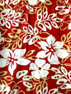 High Sierra Mens Red Hawaiian Shirt  Lrg. White Flowers Leaves 100% Cotton #HighSierra #Hawaiian