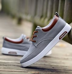 2016 Men's Fashion Canvas Sneakers Lace Up Breathable Skate Shoes
