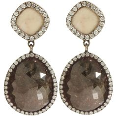 mammoth & opaque diamond earrings