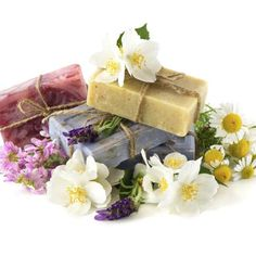 Make organic soaps at home with organic essential oils and herbs.
