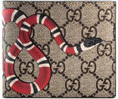 Kingsnake print GG Supreme wallet  mensfashion  fashion  accessories  ad  Gucci Mens Wallet 910b60c965