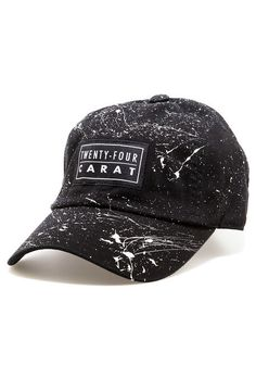 0a70c2fb038 Twenty-Four Carat Hat Splatter Dad Black   White