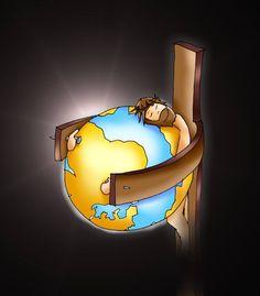 His got the Whole World in HIS hands Christian Images, Christian Art, Idees Cate, Jesus Cartoon, Jesus Artwork, Bibel Journal, Jesus Christ Images, Jesus Painting, Biblical Art