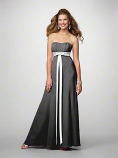 1000 images about black silver bridesmaid dresses on for Black and silver wedding dress