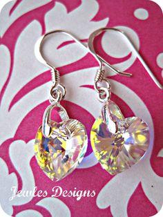 SALE AB Swarovski Crystal and sterling silver by JewlesDesigns, $15.00
