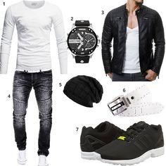 #style #mode #fashion #herrenmode #männer #adidas #diesel #lederjacke