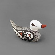 Wright's Indian Art: Small Pottery Duck by Tammy Bellson