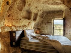 Hotel Le Grotte della Civita, Matera, Italy. A hotel in authentic medieval style? Umm YES!