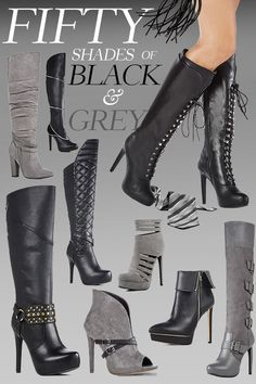 Shades Of Black & Grey!  Can't decide which Sexy Style is best for you? Find out by taking JustFab's Style Quiz.
