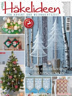 Sabrina Special Hakelideen Diskusia na LiveInternet - ruský servis Online denníky Crochet Book Cover, Crochet Books, Crochet Home, Christmas Books, Christmas Crafts, Christmas Decorations, Xmas, Christmas Ornaments, Knitting Magazine