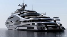 Prelude superyacht rear view. http://www.charterworld.com/news/laraki-yacht-designs-163m-motor-yacht-prelude#