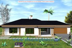Overall Dimensions- x 2 Car Garage Area- 222 Square meters Free House Plans, Family House Plans, House Plans With Photos, Building Costs, Square Meter, Detailed Drawings, Car Garage, Home Collections, Bedrooms
