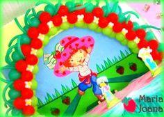 Arco de balões - Tema Moranguinho.