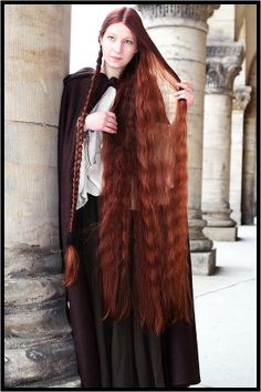 Longest beautiful ginger hair I've seen! Hair of a true Celt.