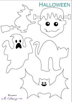 Happy halloween! – ideskyen.dk Origami Halloween, Halloween Quilts, Couture Pour Halloween, Happy Halloween, Halloween Crafts To Sell, Photo Halloween, Moldes Halloween, Fröhliches Halloween, Adornos Halloween