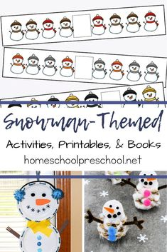 These snowman activities for preschool are perfect for your winter preschool plans. There are lots of ideas to get you through the season. #snowmanactivitiesforpreschool #sisforsnowman #winteractitivitiesforpreschool #homeschoolprek