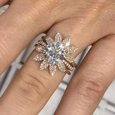 Three Piece Flower Ring – Stephanie Gottlieb Fine Jewelry