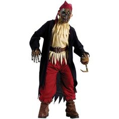 Fun World Zombie Pirate Child Halloween Costume, Boy's, Size: M(8), Ivory