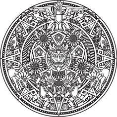 Azteca Mandala Foto de archivo
